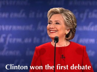 Clinton Won Debate