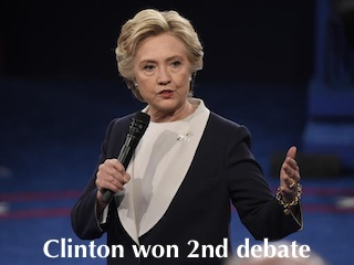 Clinton Won 2nd Debate