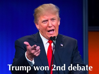 Trump Won 2nd Debate