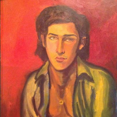 A teenage Buna's portrait by his late father, Master Hanibal Alkhas